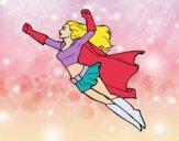 Super girl voador