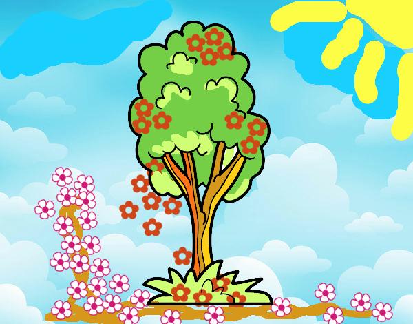 Desenho Uma árvore de parque pintado por mcastrode