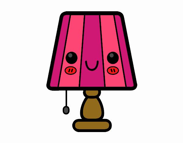 Uma lâmpada de mesa