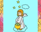 Anjo com cesta
