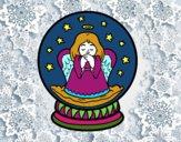 Bola de neve com anjo