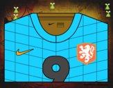 Camisa da copa do mundo de futebol 2014 da Holanda