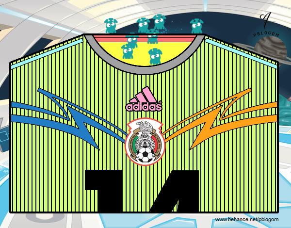 Camisa da copa do mundo de futebol 2014 do México