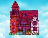 Casa de dois andares com torre