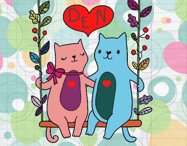 Gatinhos apaixonados