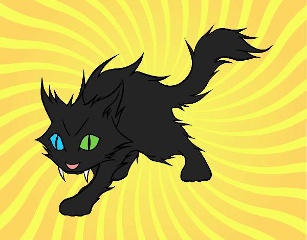 Desenho Gato Yule pintado por NdPraFazer