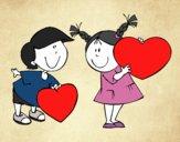 Desenho Menino apaixonado pintado por Sillvana