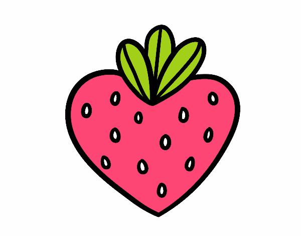 Morango coração