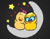 Desenho Pássaros do amor pintado por ameireles