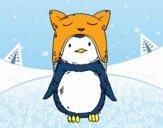 Pinguim com chapéu engraçado