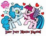Desenho  Pony Melhores amigos para sempre pintado por Maris2