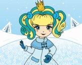 Desenho Princesa de inverno pintado por ThaySilvaa