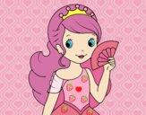 Princesa e leque