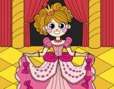 Desenho Princesa no baile pintado por ThaySilvaa