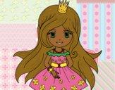 Desenho Princesa primavera pintado por ThaySilvaa