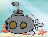 Desenho Submarino científico pintado por Craudia