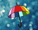 Um guarda-chuva