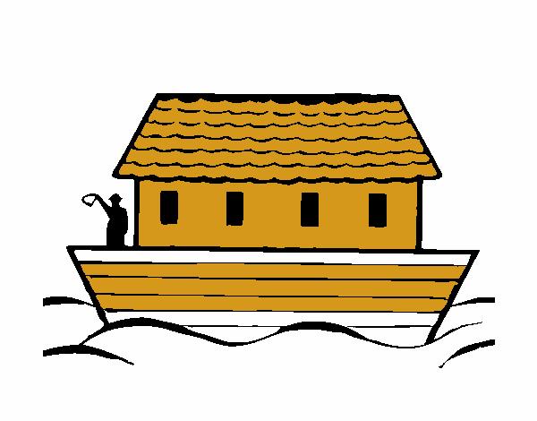 Arca De Nóe Para Colorir: Desenho De Arca De Noé Pintado E Colorido Por Usuário Não