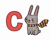 Desenho C de Coelho pintado por Craudia