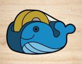 Desenho Fita adesiva baleia pintado por Craudia
