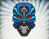 Desenho Máscara robô alien pintado por Craudia