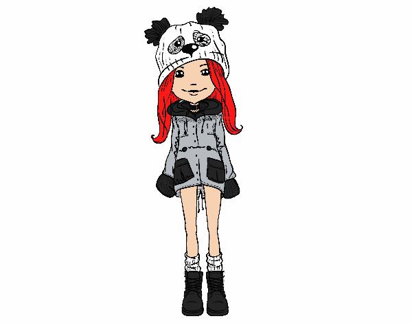 Desenho De Estilo Panda Muito Fofa Pintado E Colorido Por