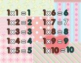 Tabuada de Multiplicação do 1