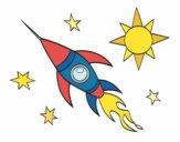 Um foguete aeroespacial