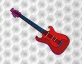 Uma guitarra elétrica