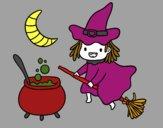 A bruxa voadora e sua poção
