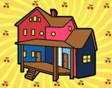 Casa con alpendre