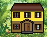 Desenho Casa con dois pavimenti pintado por Craudia