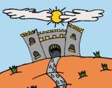 Desenho Castelo maléfico pintado por Craudia