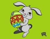 Coelho com ovo Páscoa