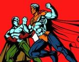 Combate herói e vilão