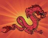 Desenho Dragão caminhada pintado por Craudia