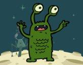 Desenho Extraterrestre com os olhos esbugalhados pintado por Craudia