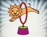 Desenho Leão saltando pintado por Craudia
