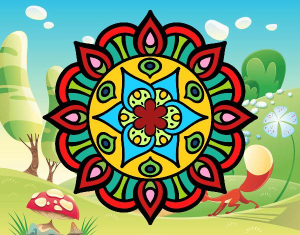 Desenho Mandala vida vegetal pintado por davidlessi