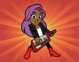 Desenho Menina que joga o keytar pintado por davidlessi