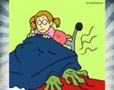Desenho Monstro debaixo da cama pintado por davidlessi