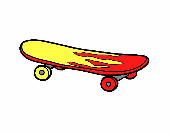 desenho de o skate pintado e colorido por usuário não registrado o