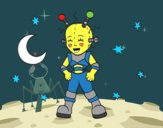Desenho Robô astronauta pintado por ImShampoo