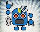 Desenho Robô com antena pintado por Craudia