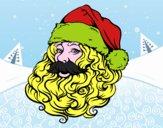 Rosto de Papai Noel para o natal