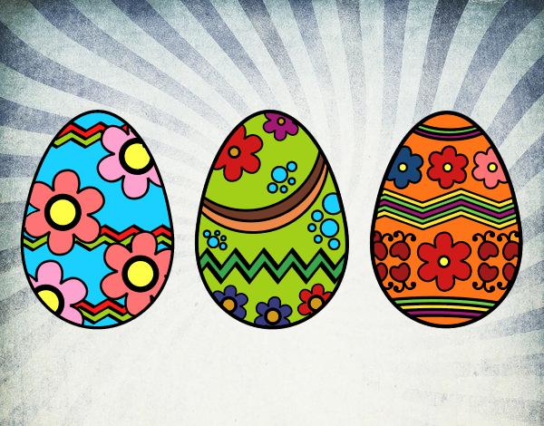 Desenho Três ovos de Páscoa pintado por davidlessi
