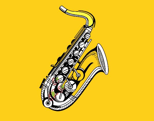 Um saxofone