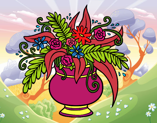 Desenho Um vaso com flores pintado por davidlessi