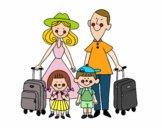 Uma família de férias