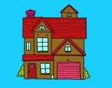 Desenho Casa de família americana pintado por gigi2018